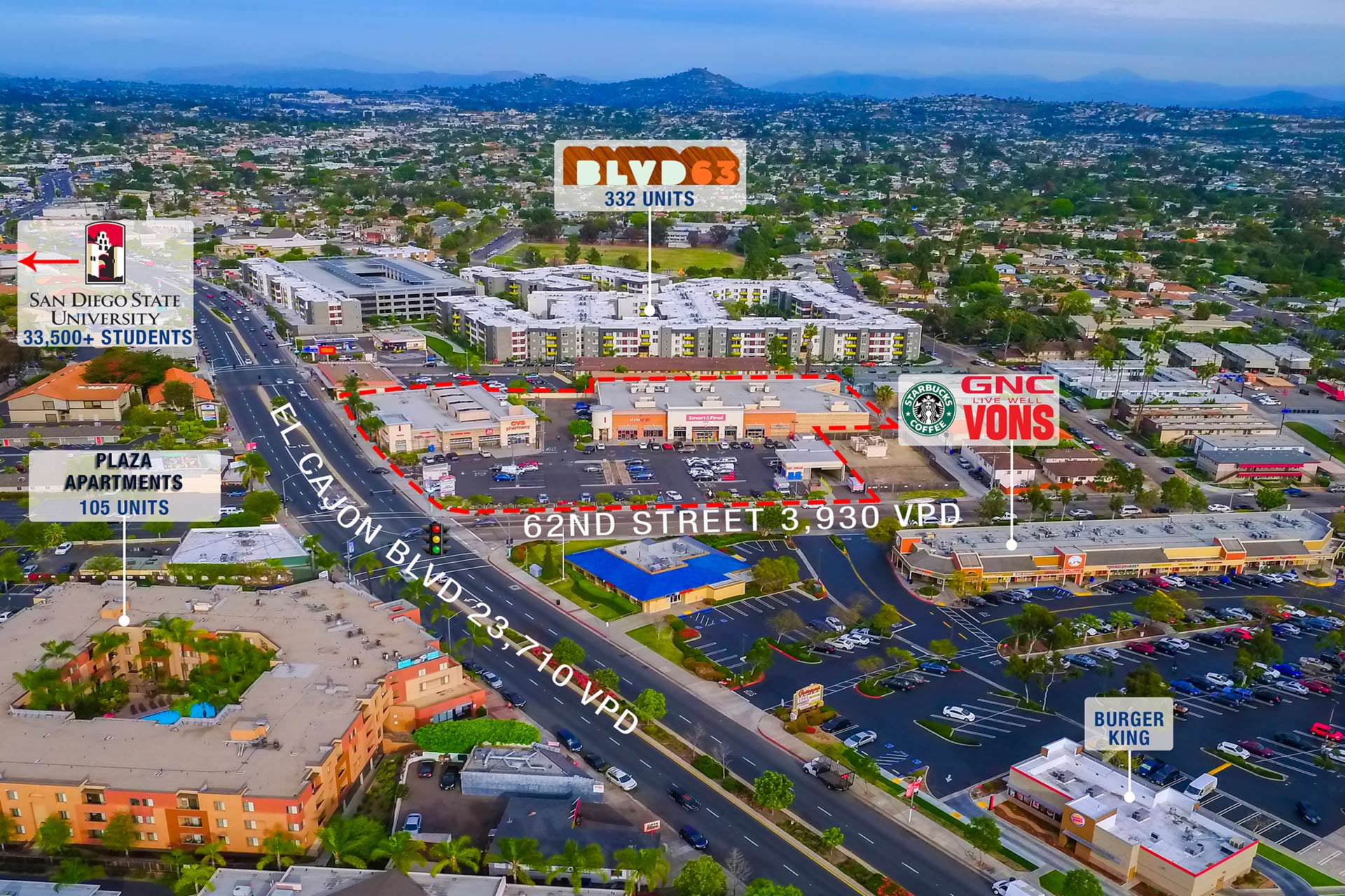 Campus Point Shopping Center, San Diego, Aerial View